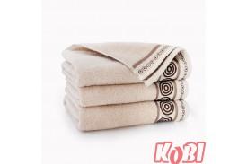 Ręczniki bawełniane RONDO BEŻOWY