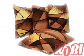 Poszewki na poduszki kora brązowe romby (0626)