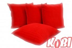 Poszewki na poduszki aksamit (czerwony)