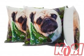 Poszewka dekoracyjna 45x45 ANIMAL GREEN DOG