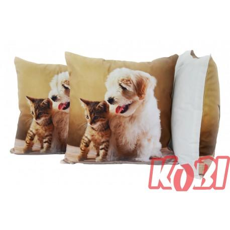 Poszewka dekoracyjna 45x45 ANIMALS CAT AND DOG