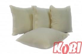 Poszewki na poduszki aksamit (ecru)