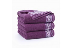 Ręczniki bawełniane RONDO ŚLIWKOWY