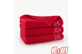 Ręczniki bawełniane WALENTYNKA CZERWONY