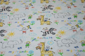 Pościel dziecięca 100% bawełna Animals my friends (D17)