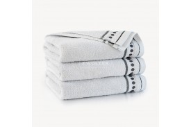 Ręczniki bawełniane Trio STALOWY