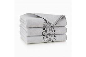 Ręcznik bawełniany Victoria Stalowy