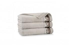 Ręcznik z bawełny egipskiej LAURA sepia ZWOLTEX