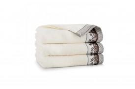 Ręcznik z bawełny egipskiej LAURA kremowy ZWOLTEX