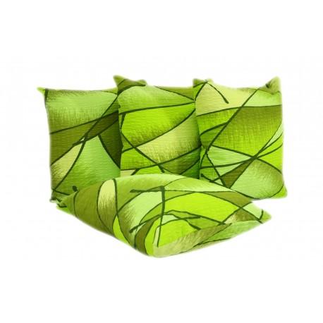 Poszewki na poduszki kora romby zielone (0633) KOBI