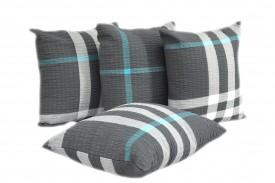 Poszewki na poduszki kora szara kratka (1600) KOBI