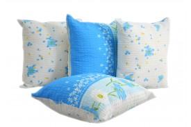 Poszewka na poduszkę kora niebieska niezapominajka (0731) KOBI