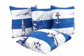 Poszewka na poduszkę bawełna 100% Marynarski (1686) KOBI