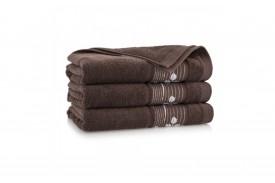 Ręcznik z bawełny egipskiej SONATA heban ZWOLTEX