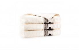 Ręcznik z bawełny egipskiej SONATA ecru ZWOLTEX