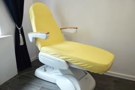Prześcieradło na fotel kosmetyczny frotte bananowy (3) KOBI