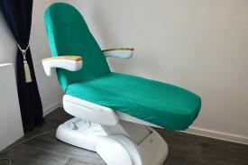 Prześcieradło na fotel kosmetyczny frotte zielony (11) KOBI