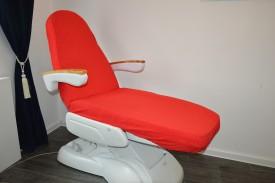 Prześcieradło na fotel kosmetyczny frotte czerwony (16) KOBI