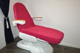 Prześcieradło na fotel kosmetyczny frotte bordo (18) KOBI