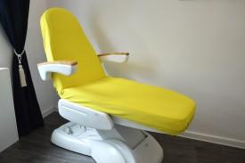 Prześcieradło na fotel kosmetyczny frotte żółty (26) KOBI