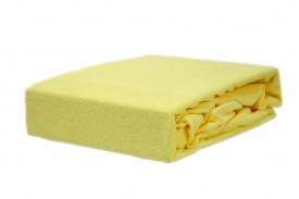 Prześcieradło frotte z gumką bananowy (3) KOBI