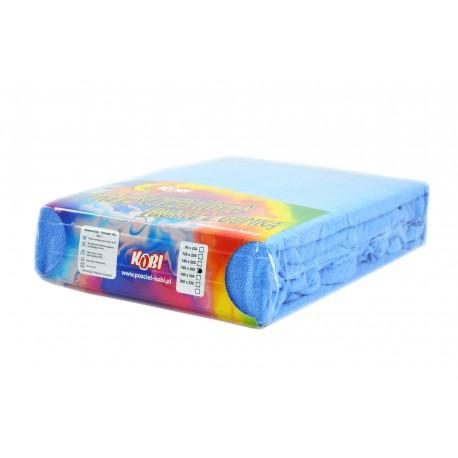 Prześcieradło frotte z gumką niebieski (5) KOBI
