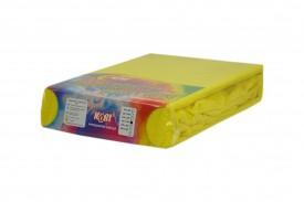 Prześcieradło frotte z gumką żółty (26) KOBI