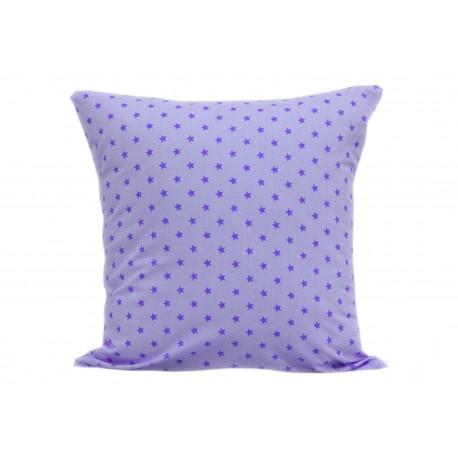 Poszewka bawełniana fioletowe gwiazdki KOBI