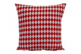 Poszewka bawełniana szachownica red-white KOBI