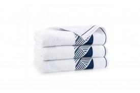 Ręcznik z bawełny egipskiej ENZO biały ZWOLTEX